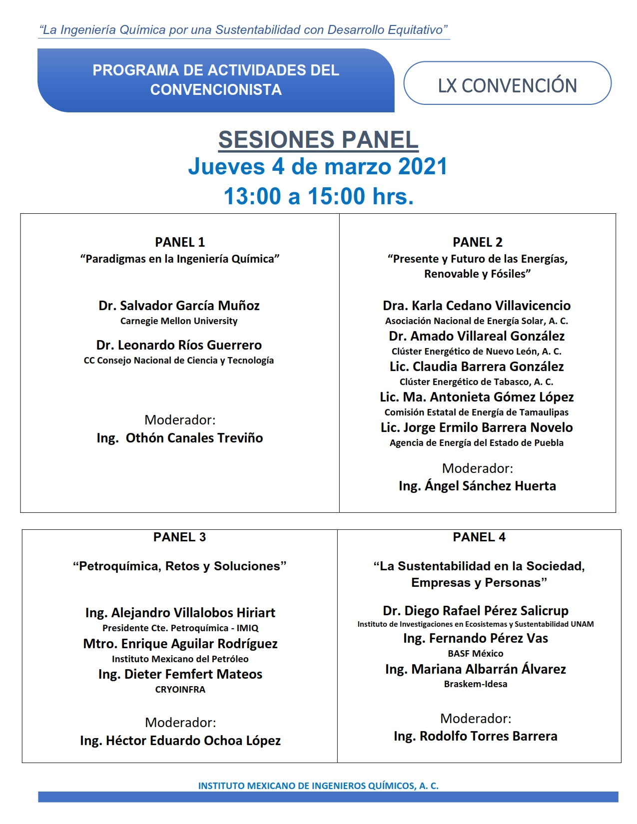 SESION PANEL JUEVES